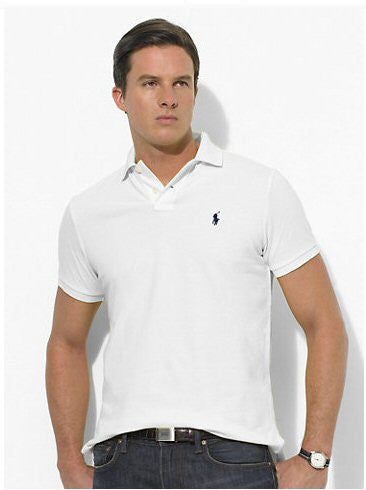 Polo Men's Classic-Fit Mesh-White - Bennett's Clothing