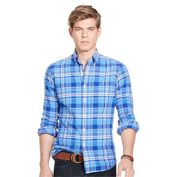 bfc0ec164973 Polo Ralph Lauren Men s Long-Sleeve Oxford Shirt-Blue – Bennett s Clothing