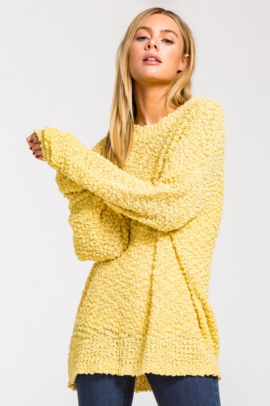 Popcorn Sweaters are easy throw on's to match everything and are so trendy and stylish-Shop Bennetts Clothing and receive same day shipping