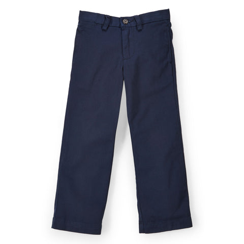 Ralph Lauren Boy's Suffield Flat Front Pant-Navy Blue
