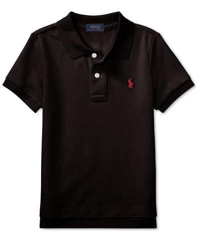 Ralph Lauren Boy's Mesh Polo-Black