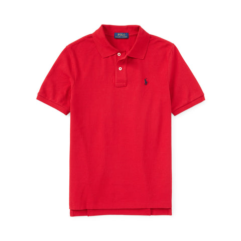 Ralph Lauren Boy's Mesh Polo-Red - Bennett's Clothing