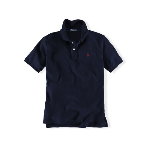 Ralph Lauren Boy's Mesh Polo-Navy - Bennett's Clothing