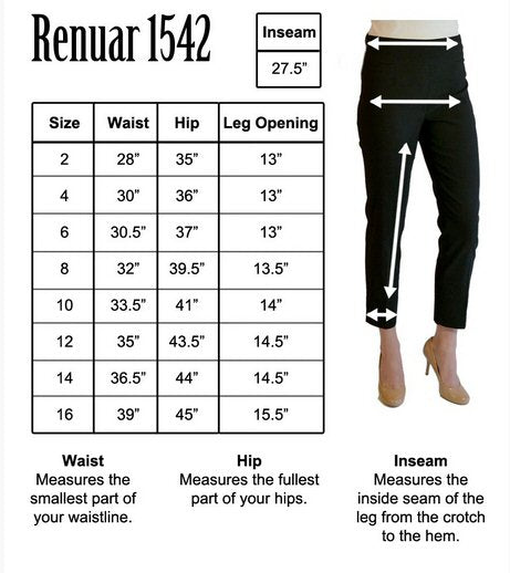 Renuar 1542 Cigarette Leg Ankle Pant-Heather Taupe