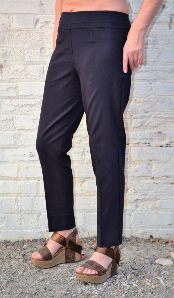 Renuar 1542 Cigarette Leg Ankle Pant-New Midnight Blue - Bennett's Clothing - 1