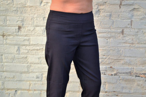 Renuar 1542 Cigarette Leg Ankle Pant-New Midnight Blue - Bennett's Clothing - 4