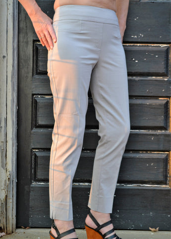 Renuar 1542 Cigarette Leg Ankle Pant-Heather Platinum - Bennett's Clothing - 1
