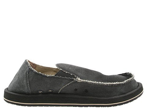 Sanuk Men's Vagabond Slip-on Loafer-Charcoal - Bennett's Clothing - 2