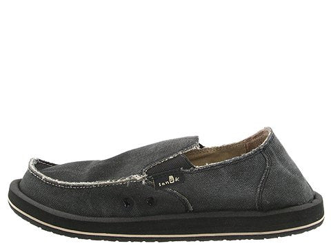 Sanuk Men's Vagabond Slip-on Loafer-Charcoal