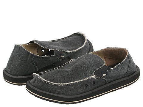 Sanuk Men's Vagabond Slip-on Loafer-Charcoal - Bennett's Clothing - 1