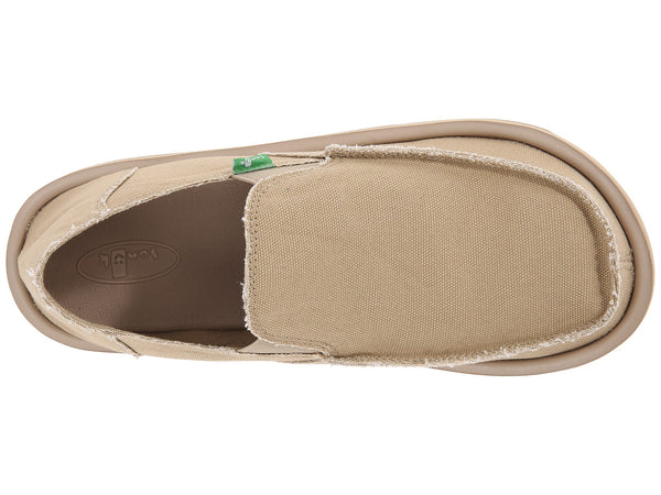 Sanuk Men's Vagabond Slip-on Loafer-Khaki - Bennett's Clothing - 6