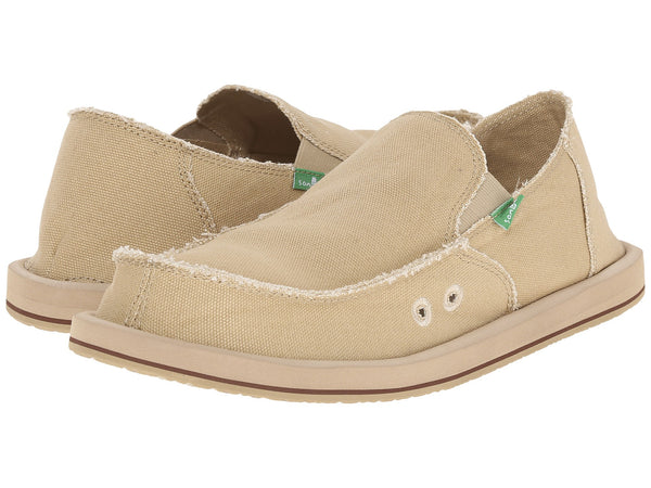 Sanuk Men's Vagabond Slip-on Loafer-Khaki - Bennett's Clothing - 1