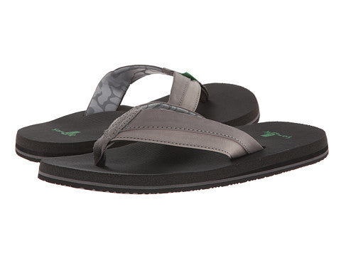Sanuk Men's Beer Cozy Light Flip Flop-Charcoal - Bennett's Clothing - 1