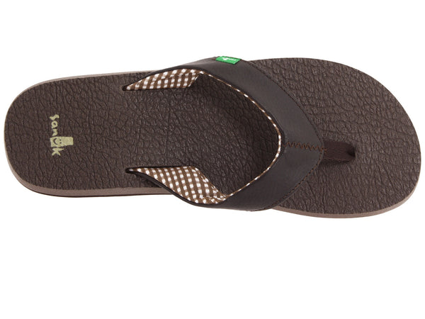 Sanuk Women's Yoga Mat Flip-flop-Brown - Bennett's Clothing - 6
