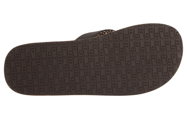 Sanuk Women's Yoga Mat Flip-flop-Brown - Bennett's Clothing - 7