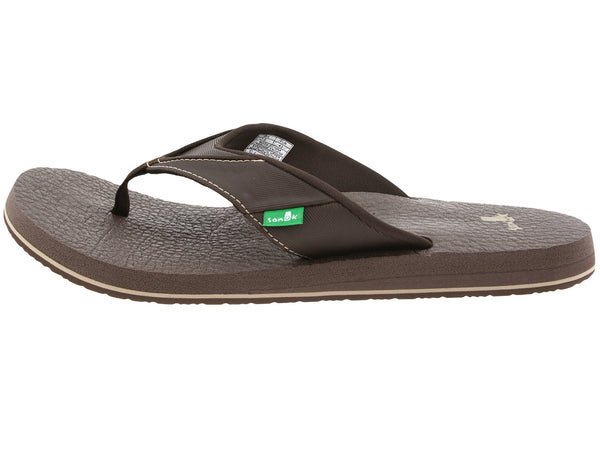 Sanuk Men's Beer Cozy flip flops-Brown - Bennett's Clothing - 2