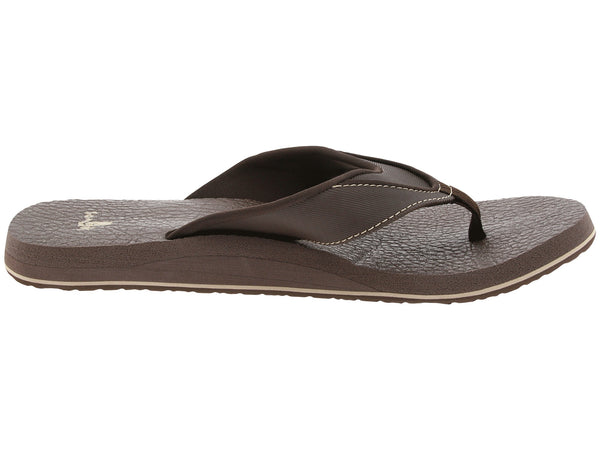 Sanuk Men's Beer Cozy flip flops-Brown - Bennett's Clothing - 4
