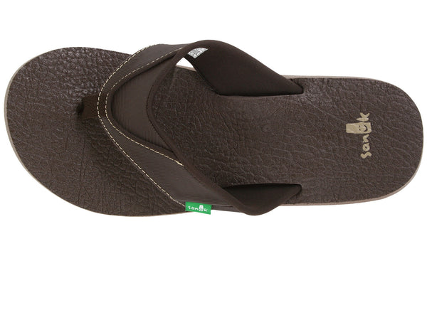 Sanuk Men's Beer Cozy flip flops-Brown - Bennett's Clothing - 6