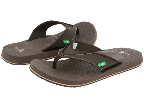 Sanuk Men's Beer Cozy flip flops-Brown - Bennett's Clothing - 1