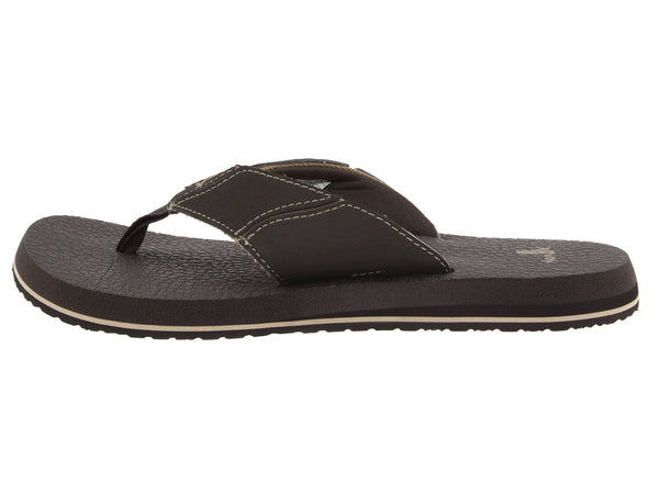 Sanuk Men's Fault Line Flip-Flop-Brown - Bennett's Clothing - 2