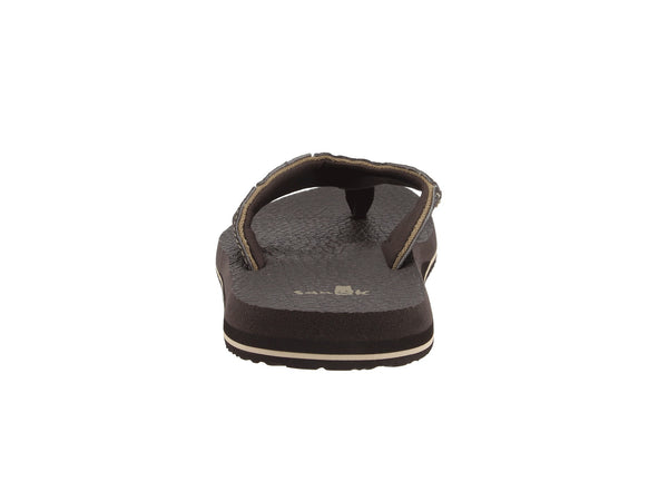 Sanuk Men's Fault Line Flip-Flop-Brown - Bennett's Clothing - 3