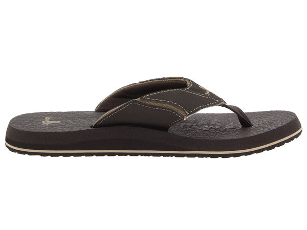 Sanuk Men's Fault Line Flip-Flop-Brown - Bennett's Clothing - 4