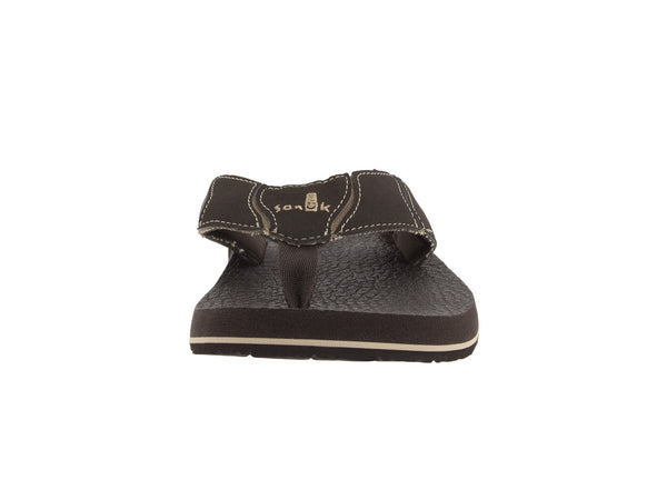 Sanuk Men's Fault Line Flip-Flop-Brown - Bennett's Clothing - 5