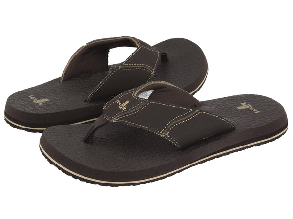 Sanuk Men's Fault Line Flip-Flop-Brown - Bennett's Clothing - 1