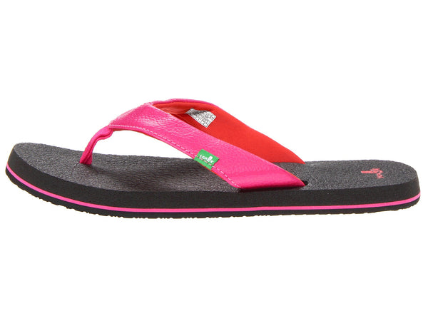 Sanuk Girls Yoga Mat Flip-Flops-Hot Pink/Red - Bennett's Clothing - 2