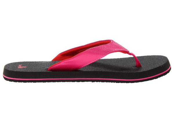 Sanuk Girls Yoga Mat Flip-Flops-Hot Pink/Red - Bennett's Clothing - 4