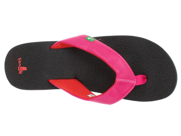 Sanuk Girls Yoga Mat Flip-Flops-Hot Pink/Red - Bennett's Clothing - 6