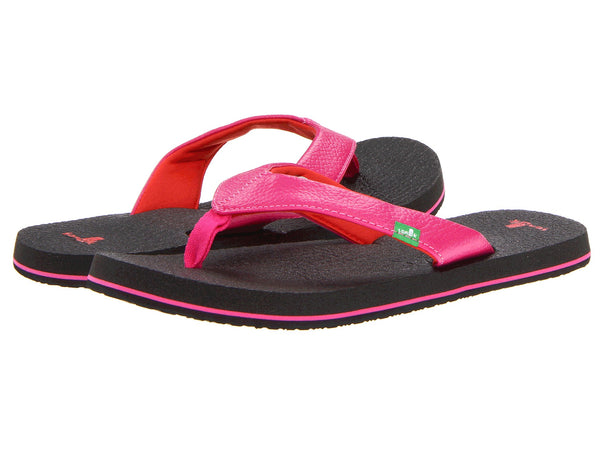Sanuk Girls Yoga Mat Flip-Flops-Hot Pink/Red - Bennett's Clothing - 1