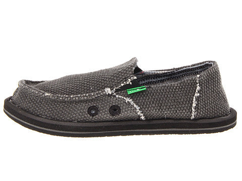 Sanuk Boy's Vagabond Slip-on Shoes-Black - Bennett's Clothing - 2