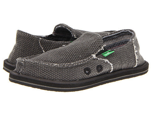 Sanuk Boy's Vagabond Slip-on Shoes-Black - Bennett's Clothing - 1
