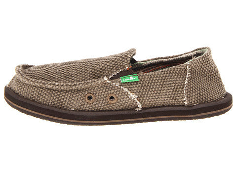 Sanuk Boy's Vagabond Slip-on Shoes-Brown - Bennett's Clothing - 2
