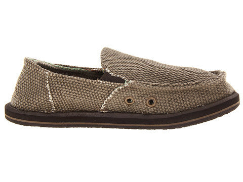 Sanuk Boy's Vagabond Slip-on Shoes-Brown - Bennett's Clothing - 4