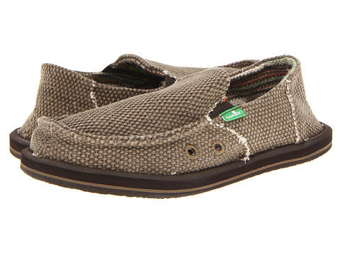 Sanuk Boy's Vagabond Slip-on Shoes-Brown - Bennett's Clothing - 1