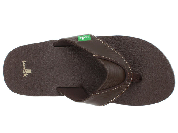 Sanuk Boy's Root Beer Cozy Flip-Flops-Brown - Bennett's Clothing - 6