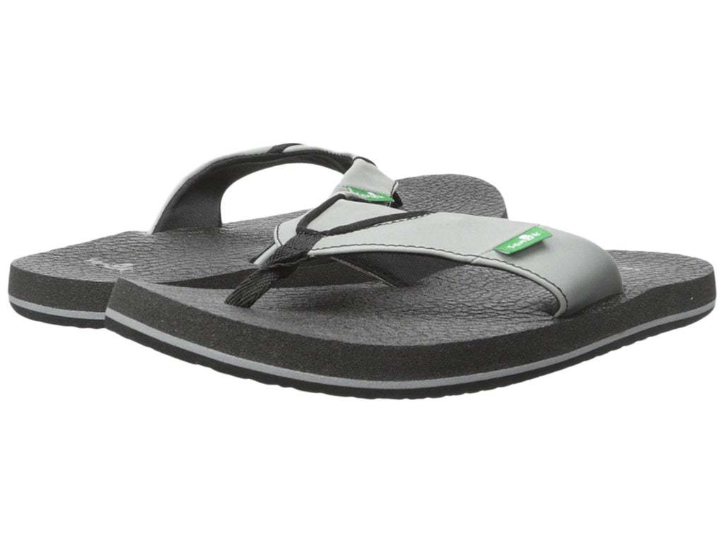 Sanuk Boy's Root Beer Cozy Flip-Flops-Grey