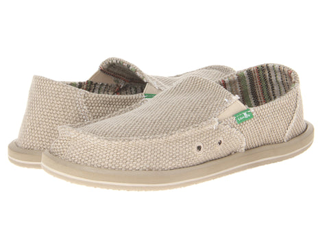 Sanuk Boy's Vagabond Slip-on Shoes-Khaki - Bennett's Clothing - 1