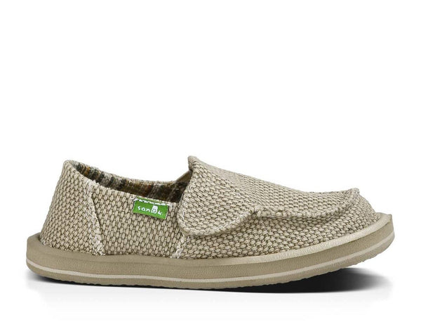 Sanuk Boy's Vagabond Slip-on Shoes-Khaki - Bennett's Clothing - 8