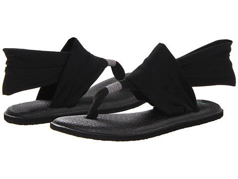 Sanuk Womens Yoga Sling 2 Sandal-Black - Bennett's Clothing - 1
