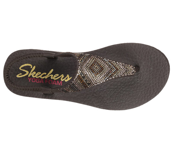 Skechers Meditation Gypsy Glam Sandal-Chocolate