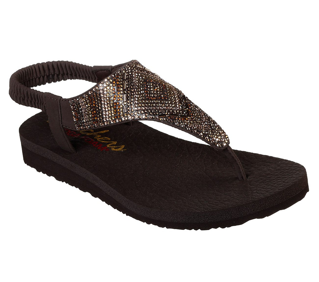 Skechers Cali Meditation Gypsy Glam thong sandals are made from Yoga Foam and so comfy. Shop Bennetts Clothing for a large selection of womens sandals with great prices and same day shipping