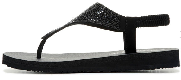 Skechers Meditation Rock Crown Sandal-Black