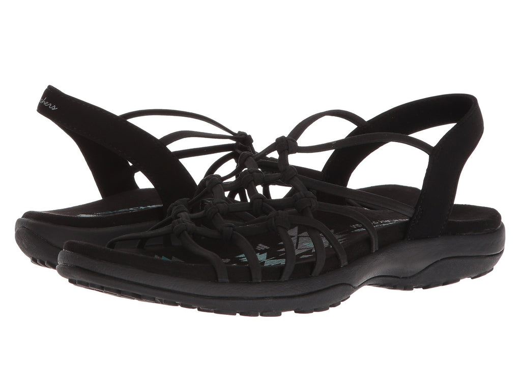 Skechers Reggae Slim Forget Me Knot sandal is stretchy and easy to slip-on for a day in the rugged outdoors. Shop Bennetts Clothing for a large selection of womens sandals with great prices and same day shipping