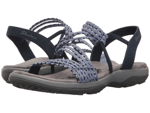 Skechers Reggae Slim Stretch Appeal sandal is stretchy and perfect for a comfy day in the rugged outdoors. Shop Bennetts Clothing for a large selection of womens sandals with great prices and same day shipping