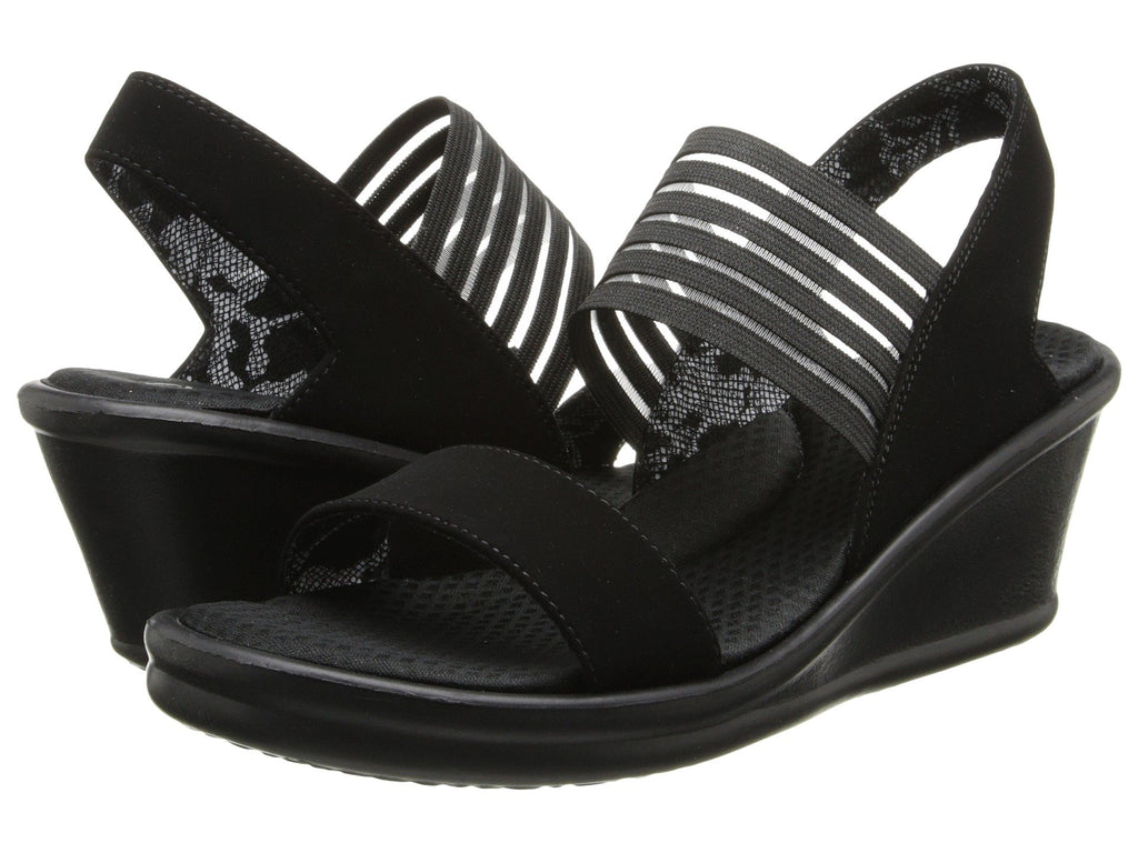 Skechers Rumblers Sci-Fi wedge sandal sets your style apart from the rest. Shop Bennetts Clothing for a large selection of womens sandals with great prices and same day shipping