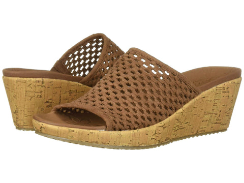 Skechers Beverlee Golden Sky wedge sandal sets your style apart from the rest. Shop Bennetts Clothing for a large selection of womens sandals with great prices and same day shipping