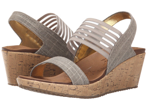 Skechers Beverlee Smitten Kitten wedge sandal sets your style apart from the rest. Shop Bennetts Clothing for a large selection of womens sandals with great prices and same day shipping